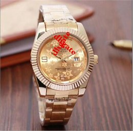 Wholesale Swiss Style Watches - High quality Swiss Top Luxury brand Men's Automatic quartz Big diamond gold watch 14 styles to choose from