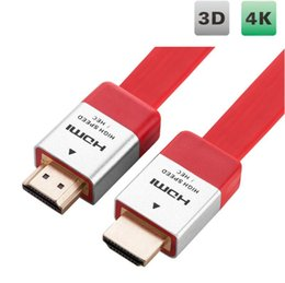 Wholesale Hd Composite Video - HDMI 2.0 Cable Audio Video Cable Cord High Speed HD 4K x 2K Flat HDMI Cable Male to Male