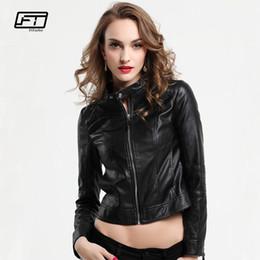 07eca606fc13a Fitaylor Women PU Leather Jackets Lady Black Pink Faux Leather Outwear Motorcycle  Coat Spring Matte Biker Bomber Jacket