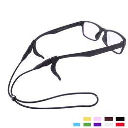 Chaînes du cou pour le sexe en Ligne-silice sport élastique \ lunettes de plein air chaînes multicolore lecture de strecth gratuit \ lunettes de course cordons de cou \ cordes pour les personnes de tous âges sexes