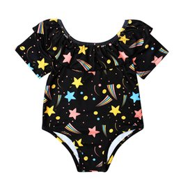 Wholesale Toddler Girls Bikini Bathing Suits - bikini 2017 swimsuit swimwear Toddler Kids swimwear One Piece bathing suit swimsuits Baby Girls Printing Beach wear Bikini Apr18