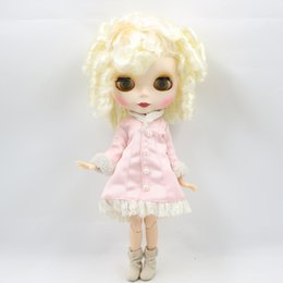 Wholesale joint snake - Fortune Days Nude Blyth doll No.6025 Light golden Medusa snake curly hair JOINT body Frosted skin Factory Blyth