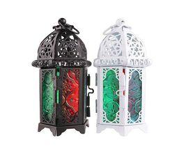 Классический Марокканский стиль подсвечник 8.3*7.2*16.5 см обету железа стекло подсвечник свеча фонарь дома свадебные украшения от Поставщики вешалки для чая оптом