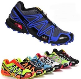 Wholesale Outdoor Lighted Cross - New 2017 New Zapatillas Speedcross 3 4 Running Shoes Men Walking Outdoor Sport shoes Speed cross Athletic Sneakers Hiking Shoes Size 40-46