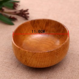 Wholesale Wholesale Wood Containers - Wooden Bowl Chinese Soup Rice Noodles Bowls Kids Lunch Box Kitchen Tableware For Baby Feeding Food Containers
