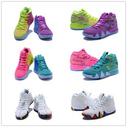 Wholesale Cutting Latex - 2018 March What the Irving 4 Multicolor Basketball Shoes for High quality Mens 4s Purple Fluorescent Green Sports Sneakers Size 40-46