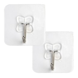 Wholesale Suction Wall Hangers - 2pcs Removable Bathroom Kitchen Wall Strong Suction Cup Hook Hangers Vacuum Sucker 6cm*6cm