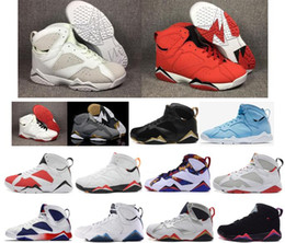 Wholesale net french - High Quality 7s Cheap Basketball Shoes sport 7S VII Hare Nothing But Net French Blue Neutral Grey Blue Charcoal Sweater Sneakers