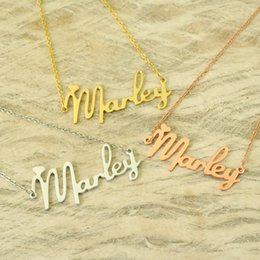 Wholesale unique tin gifts - Pendant Name Necklace Alloy Custom Name Necklace - Unique Necklace - Gift For Any Important Person