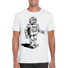 7144faa14 2019 mens toy s Maglietta del robot del giocattolo degli anni 80 retro  regalo divertente bithday