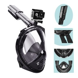 Wholesale Underwater Equipment - New Arrivals Unisex Diving Mask Scuba Mask Underwater Anti Fog Full Face Snorkeling Mask with Foldale Snorkel Diving Swimming Equipment