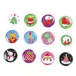 Wholesale picture christmas decorations - Merry Christmas Gifts Christmas Brooches Deer Santa Claus Badge Accessories Snowman Christmas Decoration Picture Pendant