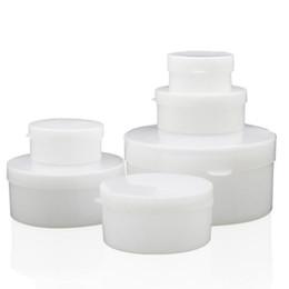 medizinproben Rabatt 5g 10g 20g 30g 50g leerer Sahnebehälter mit Knopf, kleines Hautpflegesahneglas, Salbenprobe Plastikbehälter-Medizinkasten QW7127