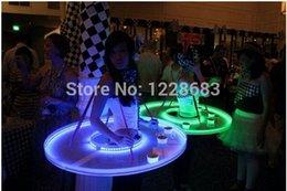 2019 iluminar ropa New Stage Show LED Light Up Bar Mesa de servicio UFO DS Fiesta de cumpleaños Rendimiento Traje Vestido Ropa Camarero Led bandeja iluminar ropa baratos