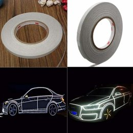 Wholesale Reflective Tape For Trucks - hina style sticker Suppliers 2cm 1 Roll Width Reflective Tape Stickers Car Styling For Automobiles Safe Material Car Truck Motorcycle Cyc...