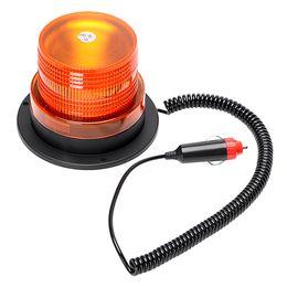 Balise stroboscopique d'urgence en Ligne-Flash Beacon Strobe Lampe de secours Accessoires de voiture universels Magnetic Truck Warning Light Car-Styling Source lumineuse 12V 10 LED