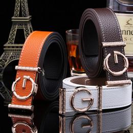 Wholesale Leather Cummerbund Belt - 2017 Brand Ladies luxury belts cummerbunds for women G buckle Belt Genuine Leather belt Fashion genuine leather men belts buckle