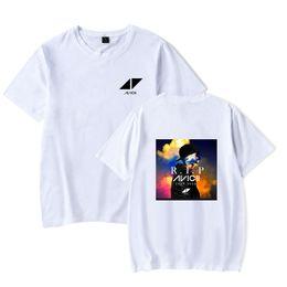 Hip hop street mens ropa online-Moda para hombre High Street Hip Hop camisetas DJ Avicci camisa verano primavera manga corta camisetas para hombres y mujeres avicci ropa