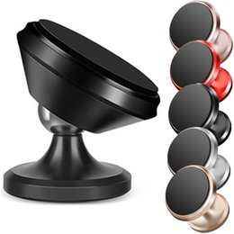 soporte universal para ipad Rebajas Soporte magnético del teléfono de la aleación del soporte del soporte del soporte del coche del grado 360 de la rotación para el teléfono móvil del iphone del samsung ipad gps del iphone