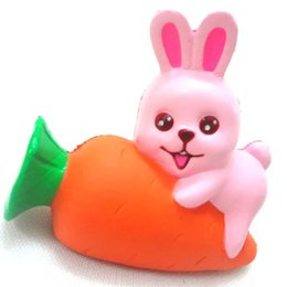 Wholesale Squishy Bunny - .Soft Rabbit Bunny Squishy Toys Bread Cake Slow Rising Phone Strap DIY Charm Sweet Scented Kid Toy Cute Easter Children Toy 50pcs