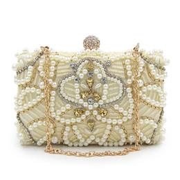 Canada Pochette Sac À Main Femmes Cristal Diamant Sacs De Soirée Ivoire Perle Perlée Épaule Parti Sac De Mariée De Mariage Embrayages Sacs À Main Offre