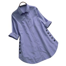 Blouses & Shirts Search For Flights Bigsweety Cotton Linen Blouses New Vintage Casual Loose Women Shirts Autumn Long Sleeve Buttons Shirts Female Tops Plus Size
