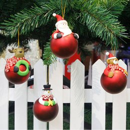 Soft christmas tree decorations online-Merry Christmas Tree Decoration Balls Ornamen Soft terracotta decorativo Festival Regalo incinto Old Man Pupazzo di neve image Can connected