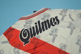 top qualité 1996 Club Atlético River Plate maillots rétro maison numéro de flocage maillot CLASSIC 10 # 9 # ? partir de fabricateur