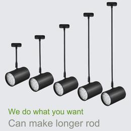 Montaje de barra de techo online-Luces de techo LED montadas en el techo 20-100cm Varilla larga disponible 3W / 7W / 12W / 18W LED para lámparas de la tienda / sala de exposición