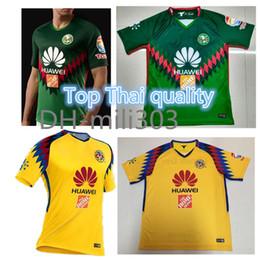 Wholesale america football club - Top Thai quality 2018 2019 Liga MX mexico green club america 3rd jersey 17 18 19 Club america soccer jersey DOMINGUEZ PERALTA football shirt