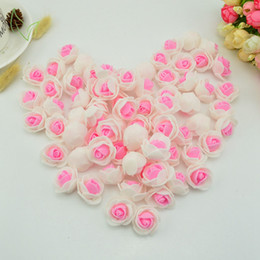 Wholesale Cheap Wall Mounts - 50pcs Foam fake flower pe roses head artificial flowers cheap wedding decoration for scrapbooking gift box diy wreath Multi-use