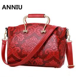 2019 bolsos de la marca china ANNIUl famosa marca chino estilo chino bolsos de impresión de alta calidad de diseño nacional de lujo Laday bandolera bolso de mujer bolsos de la marca china baratos