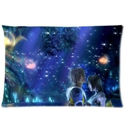 Wholesale Final Fantasy Black - LUQI Zippered Pillow Protector Pillowcase,Queen Size 20x30 inches, Final Fantasy Galaxy Night Pillow Cover