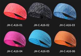 headbags de exercícios grossistas Desconto Venda quente Unisex Headband Sports Estiramento Yoga Elástico Sweatband Headband Esportes para Correndo Trabalhando Fora Ginásio Estiramento Faixa de Cabelo Headband