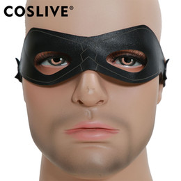 2019 máscara de flecha Apuramento Coslive Green Arrow Oliver Rainha Cosplay Black Eye Patch Máscara de Traje de Halloween Partido Cosplay Adereços Máscaras Partido Cos desconto máscara de flecha