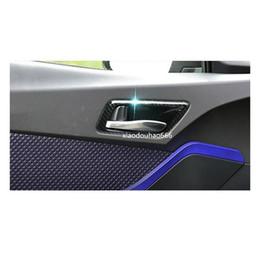 Аксессуары для аксессуаров toyota онлайн-стайлинга автомобилей крышка наклейки отделка двери внутренняя ручка чаша abs хром / углеродного волокна рамка лампы аксессуары 4 шт. Для TOYOTA C-HR CHR 2017 2018