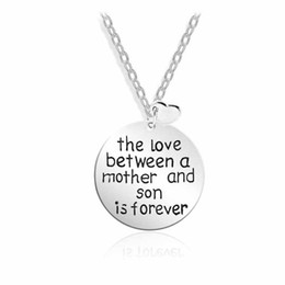 mother son charms Coupons - Love Between A Mother Son Is Forever Pendant Necklace Women Jewelry Family Heart Choker Collier Collar Party Gift