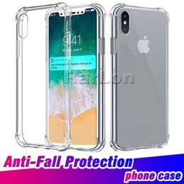 Wholesale iphone covers sale - Hot sale Anti-Fall Protection Shockproof Transparent Soft Thicken Tpu Clear Case Protect Cover for Iphone X 8 7 plus 6 Galaxy S9 S8