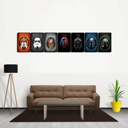 Wholesale Large Modern Wall Art Canvas - 7 Panels Helmets Large Modern Abstract Canvas Oil Painting Print Wall Art Decor for Living Room Home Decoration