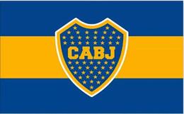 Argentina bandiere online-Argentina Club Atlético Boca Juniors Bandiera Banner 150CM * 90CM 3 * 5FT Poliestere Banner personalizzato Bandiera sportiva