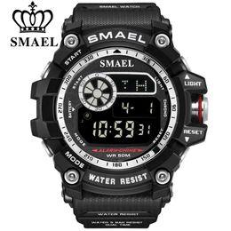 SMAEL Marca Militar Relojes Digitales Hombres Alarma Reloj Impermeable Luz de Fondo LED Relojes Deportivos Cronógrafo Reloj de Cuenta Atrás Hombre desde fabricantes