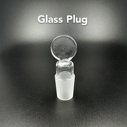 Wholesale pyrex plugs - Glass Stoppers Wholesale Pyrex Glass Tobacco Plug Male Joint 14.5mm 18.8mm for Water Pipes Bongs