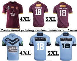 Wholesale Rugby Names - 2018 NRL JERSEYS (Print name and number) 2018 QUEENSLAND MAROONS JERSEYS NSW SOO sizes S-5XL CRONULLA SHARKS 2018 Away JERSEY