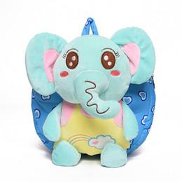 2019 meninas elefantes 2018 Mochila Do Bebê Do jardim de Infância 1-2-3-year-old Satchel Bonito 3D Elephant Mochila Dos Desenhos Animados Brinquedos de Pelúcia Meninos E Meninas Animal saco meninas elefantes barato