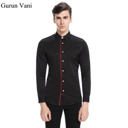 Wholesale long sleeve red formal for men - Pure Color Men's Long Sleeve Shirts Slim Fit Business Formal Male Dress Shirt Casual Shirt For Man Personality Brand Clothing