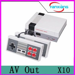Wholesale Wi Fi Tv Box - 10pcs New Arrival MINI Game Console TV Vedio Family Game Players for Child and Adult Suppoer Nes Games With Box Via DHL YX-NES-01