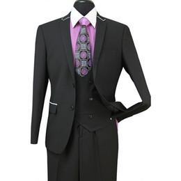 Costumes Hommes Veste Noire Pantalon Noir Costume D'été Costume De Plage Robe Hommes Costume De smoking De Mariage Costume De Novio Costume 3 Pcs ST008 ? partir de fabricateur
