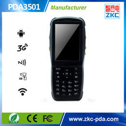 lector usb android Rebajas Android rfid reader phone con escáner de código de barras robusto industrial 3G wifi bluetooth cámara terminal ZKC PDA3501
