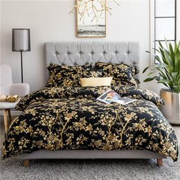 Wholesale Egyptian Cotton Bedding Sets Purple - New 4Pieces Egyptian Cotton Bed set American Pastoral style Bedding sets Queen King size Duvet cover Bed sheet set Pillowcase