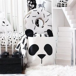 Wholesale babies clothes shops - Cartoon PandaToys Mom Bag Baby Kids Child Toy Collection Package Comestic Clothing Sundries Packet Shop Tote Bag Home Decoration